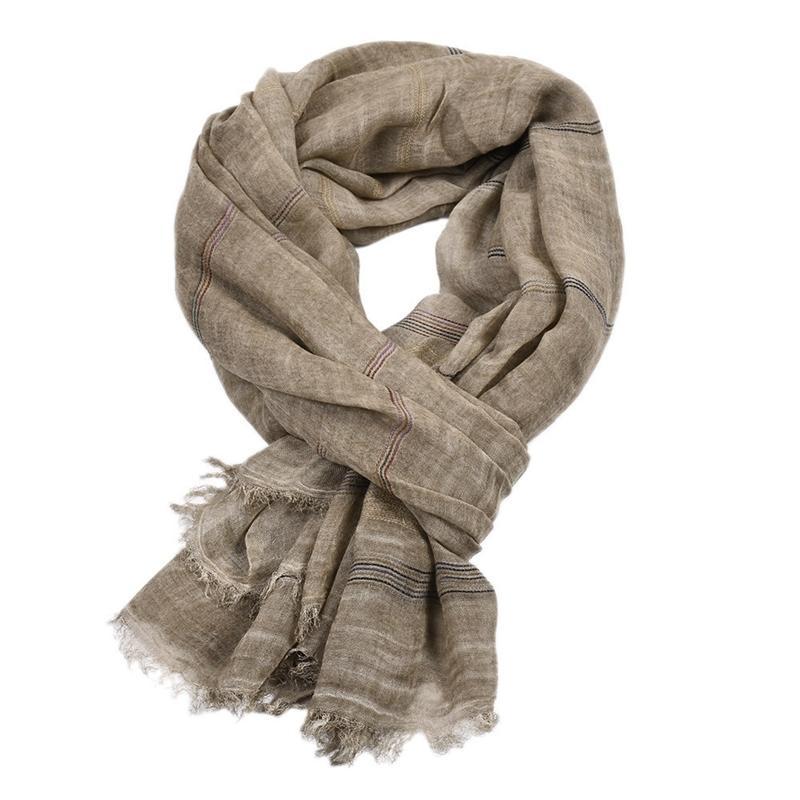 Новые повседневные мужские шарфы зима сплошной бахрома мягкой хлопчатобумажной белья мусульманские хиджабы равнины цветные шарвы шаль украл 190x90cm y201007