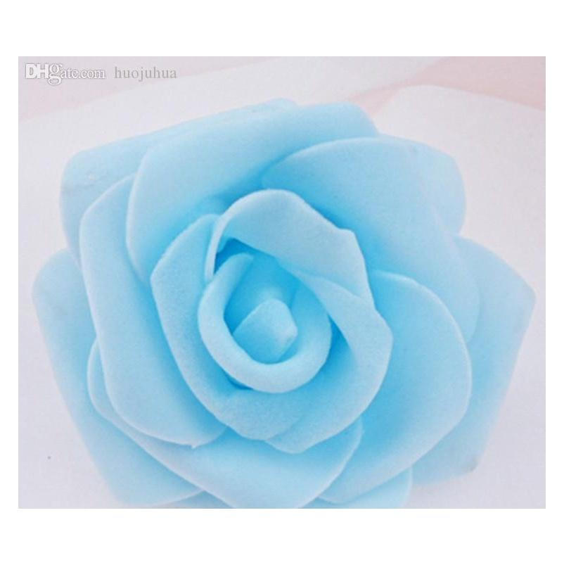 Wholesale-high Quality 100pcs/lot 7cm Foam Rose Heads Artifical Fower Heads Mint Green Tiffany Blue Flowers We jllfYg insyard