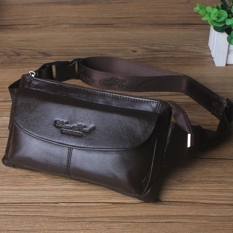 Натуральная кожаная талия сумки для мужчины Фанни пакет монеты кошелек монеты сумка мешок маленький телефон сумки кошелек сумки мужские путешествия