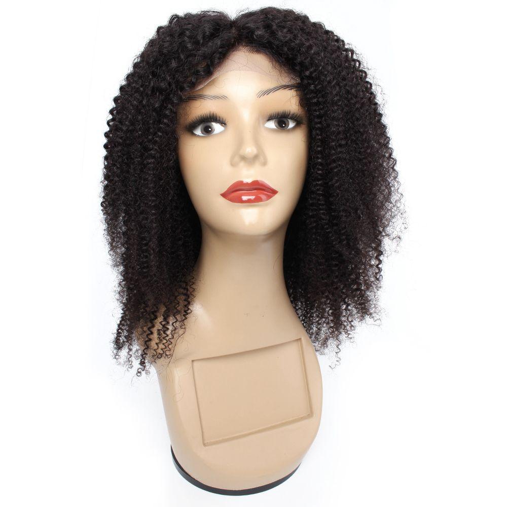 Kisshair 4x4 Spitze Verschluss Perücke Afro Kinky Courly Human Hair Perücke Brasilianische lockige Frontspitze Perücke