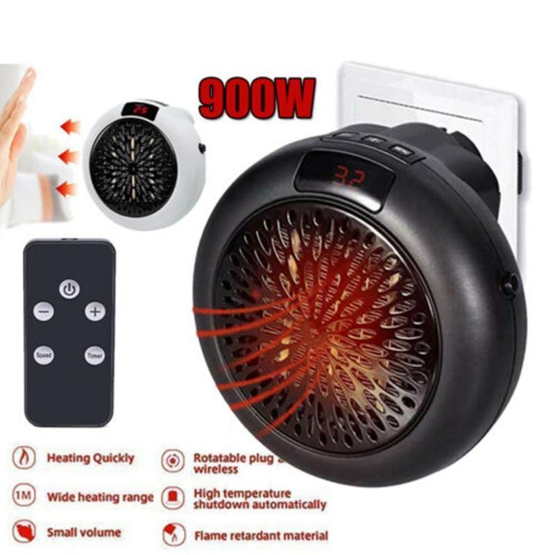 900 W Mini Elektrikli Isıtıcı Ev Isıtma Elektrikli Sıcak Hava Fanı Ofis Oda Isıtıcılar Kullanışlı Hava Isıtıcı Isıtıcı Hızlı Isı Termostatı