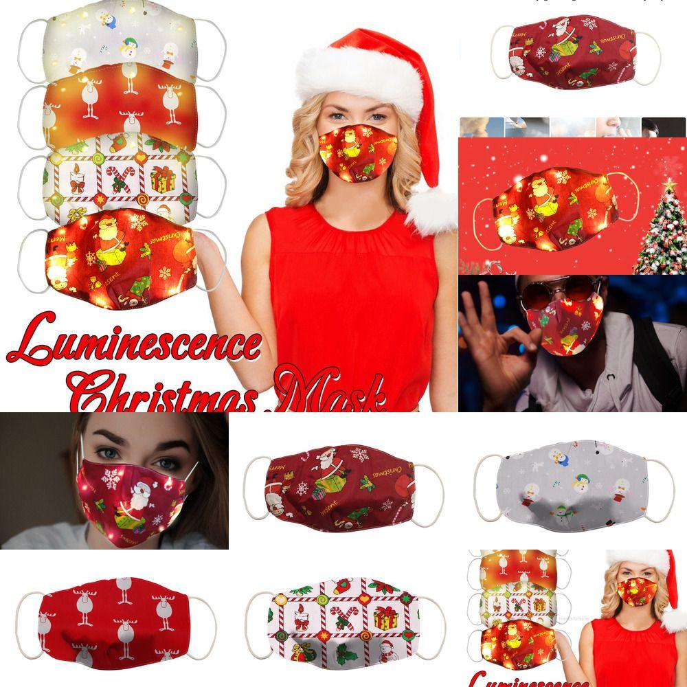 Nouveau masque de Noël lumineux LED XH1HFF