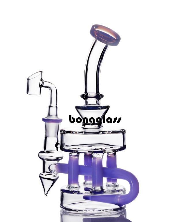 비커 봉 유리 오일 버너 파이프 두꺼운 유리 물 봉지 재활용 오일 장비 흡연 액세서리 유리 DAB 조작 담배 물 담뱃대 14mm