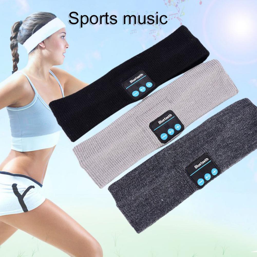 New Sports Wireless Bluetooth Music Phone Earphone Sleep Mask Sport Headband Soft Headphone with Mic Sleeping Headset HeadBand