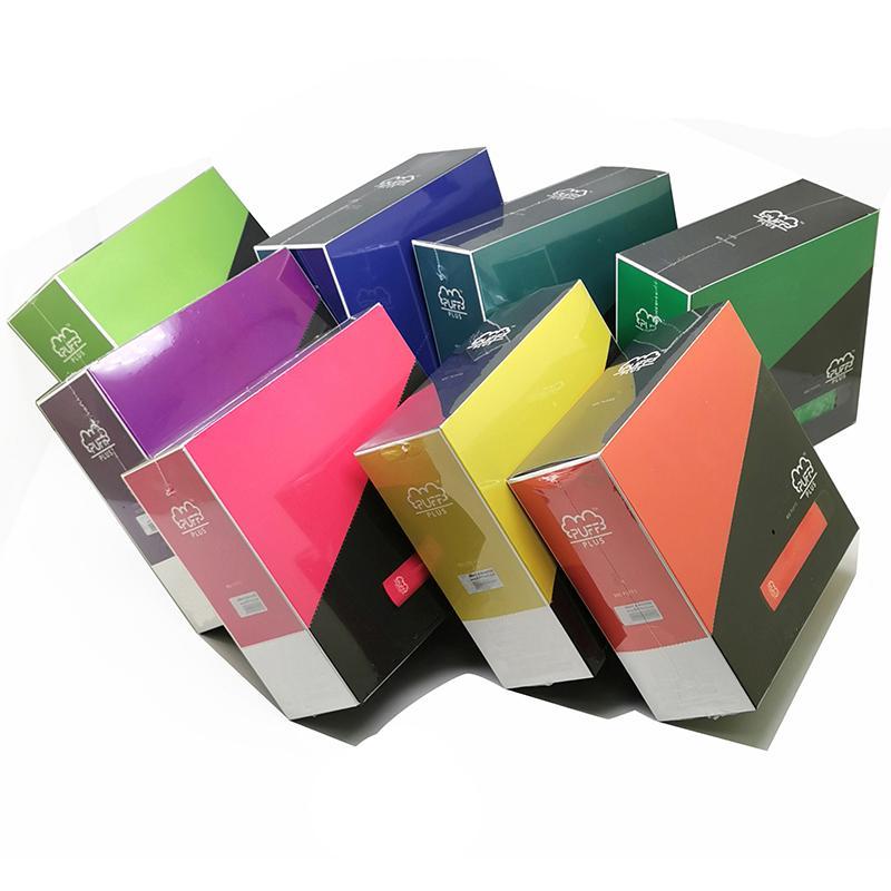 Stokta 80+ Renkler Puf Bar Artı 800Puffs Tek Kullanımlık Vape 3.2 ML E-Sigaralar XXL Puf Artı Bir Buharlı Kalem Stokta