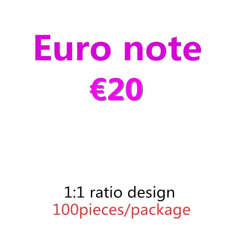 Nightclub Bar Bar Dinheiro Faux Billet 10 20 50 EURO FICIAL DINHEIRO DINHEIRO EURO 20 JOGAR DINHEIRO