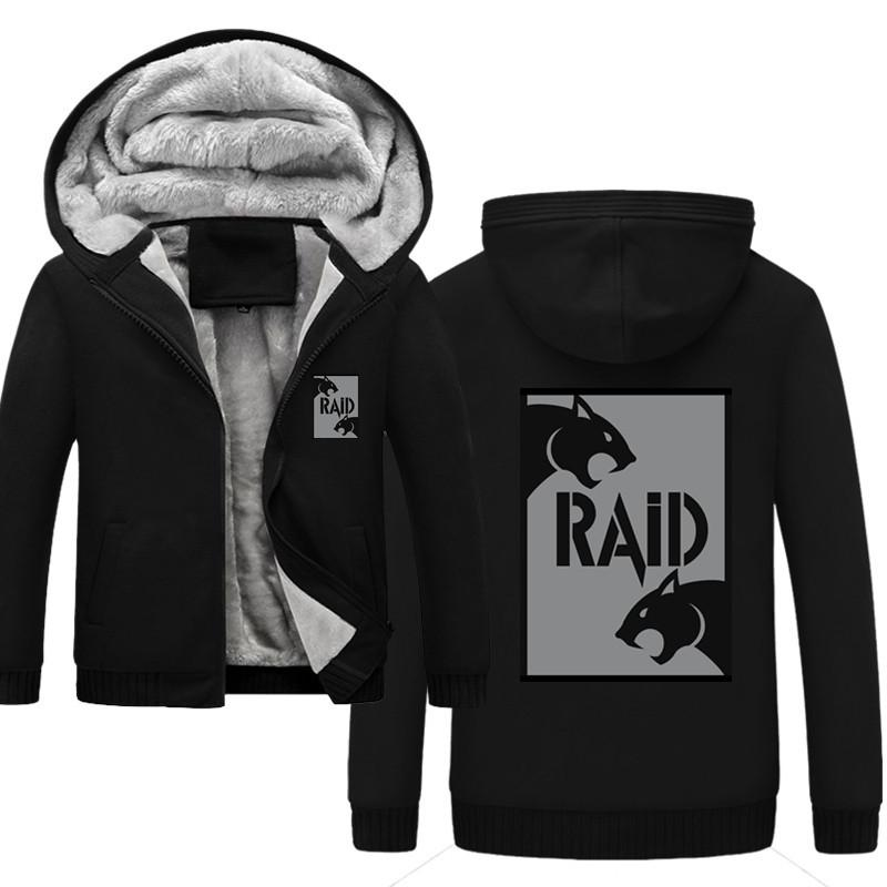 France raid Men Hoodies Winter Thick Warm Fleece Zipper Mens Hoodies Coat Sportswear Male Streetwear Hooded Sweatshirt Men Y1112