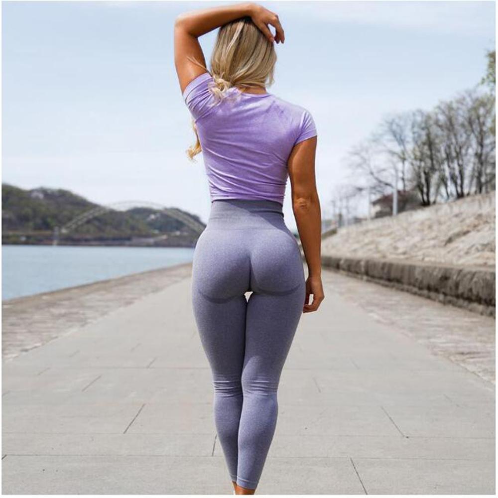 Vita alta Push Up Leggings Hollow Fitness Leggins allenamento Legging per le donne Jeggings Casual Slimming Pantaloni sportivi