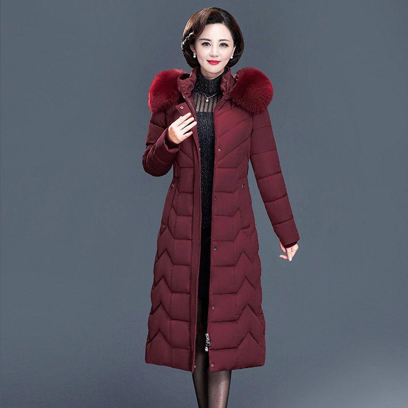 Куртка 2020 Женская Зима Толстое пальто для Женщин с капюшоном Парку Теплая Женская Одежда Длинные Тонкие Parkas Wearwea Ub8o