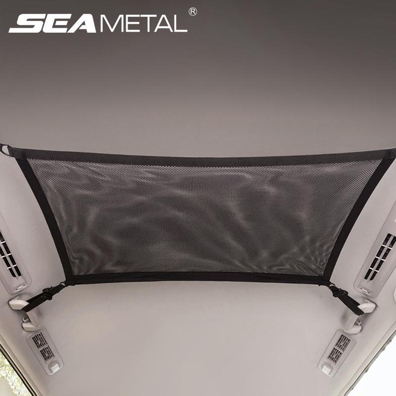 * Auto Deckenaufbewahrungsnetz-Taschenauto-Dach-Aufbewahrungsbeutel-Reißverschluss-Polyester-Mesh-Beutel-Auto-Organizer zum Stühlen auf dem Laufenden lj201119