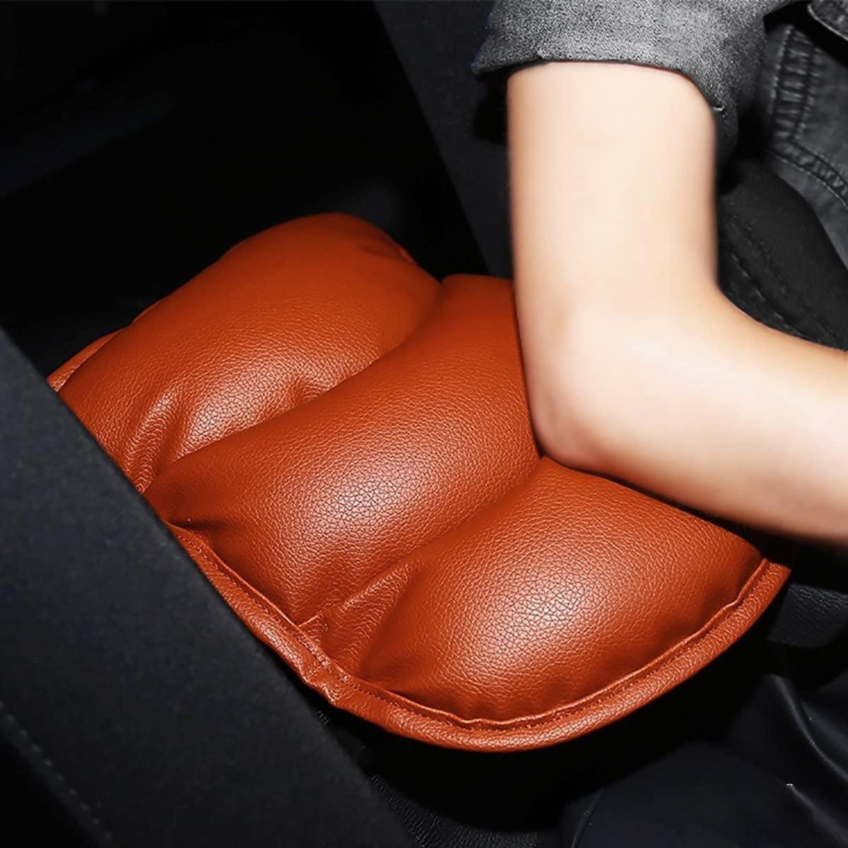 PU Soft Leather Car Center Console Cover Kissen (11x 8,6 Zoll) Armlehne Pad für Auto Motor Auto Fahrzeug GPS