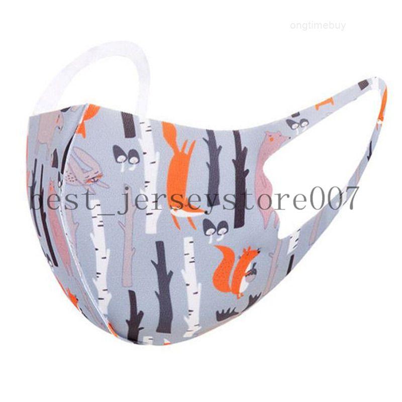 FactoryYgk0mask en stock Dibujos animados de niños cara animal impreso lavable para niños protector transpirable primavera fiesta de verano