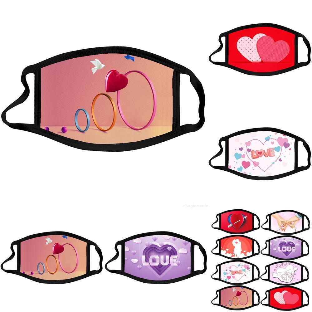 Хлопковая маска маска валентина дизайнерский день для взрослых лицо пыленепроницаемые маски рота многоразовые моющиеся лицевой маски свадьба DXC1Z2C
