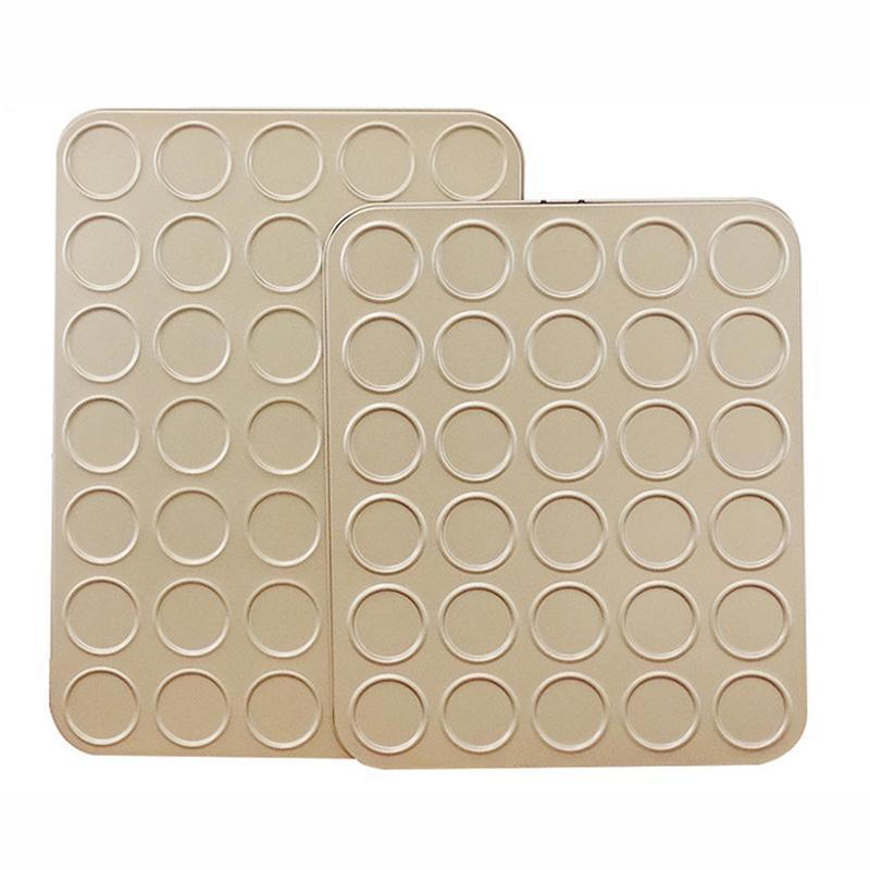 Bolinho de aço carbono panela de cozimento 30/35-cavidade antiaderente bolo bolo fondant biscuits molde tart bandejas molde bakeware ferramentas OWF3280