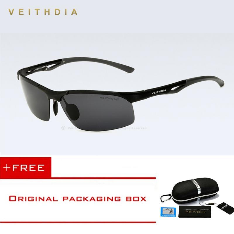 Aluminum Polarized Male Sunglasses Magnesium Men Driving Sun Accessories Oculos Semi-rimless Shades Eyewear Glasses Hnffh