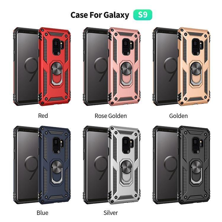 Coque de téléphone antichoc pour Samsung Galaxy S9 S20 Ultra S8 S10 plus Note 9 8 A51 A71 Note8 Note9 S9Plus A50 A50 A70 Porte-porte-bague Stands