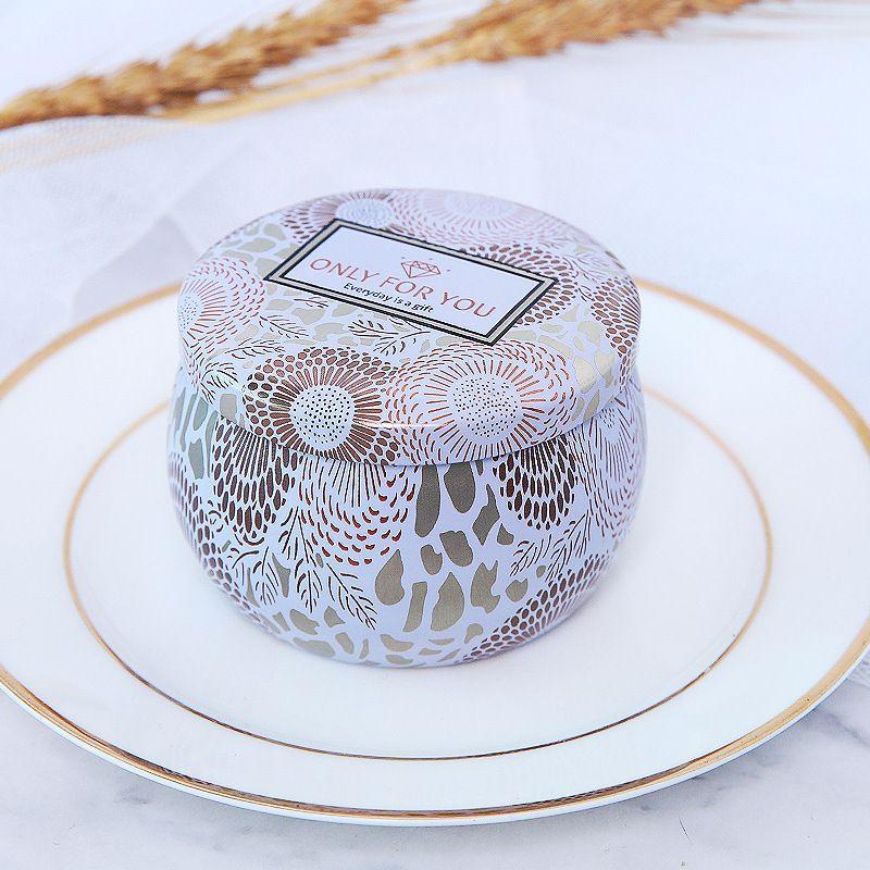 puede aromatizar el frasco de bricolaje vacío de hojalata de hojalata hecha a mano para el té caramelo de la tableta de la tableta del caramelo con la tapa XHHB04