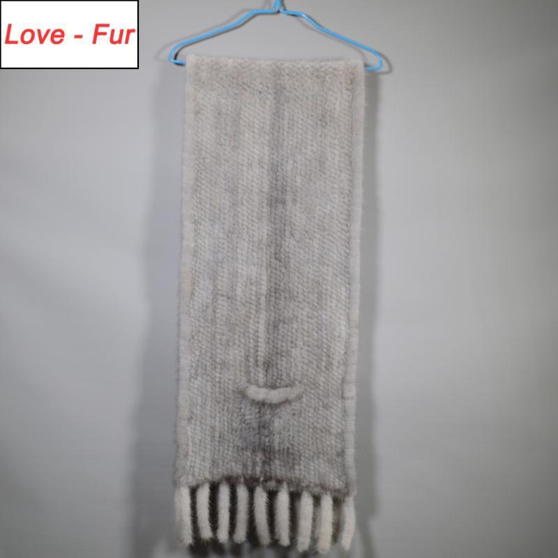 2020 Mode de fête d'hiver de style long style véritable écharpe naturelle dame vrais châssel tassel tricot foulards