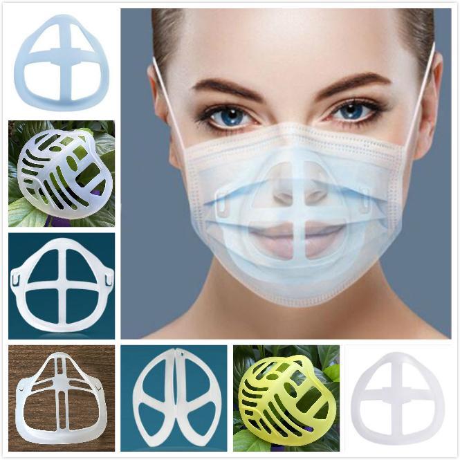 Maschera 3D Staffa di rossetto Protezione del rossetto Stand del silicone Supporto per la maschera per il viso che migliora la respirazione Gancio della maschera senza intoppi