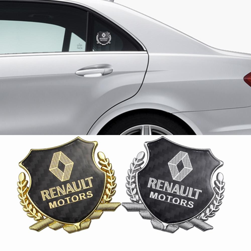 Renault Clio Megane 3 için Karbon Fiber Araba Yan Sticker Amblem Rozeti 3 Duster Logan Laguna 2 Captur Sandero Pencere Aksesuarları