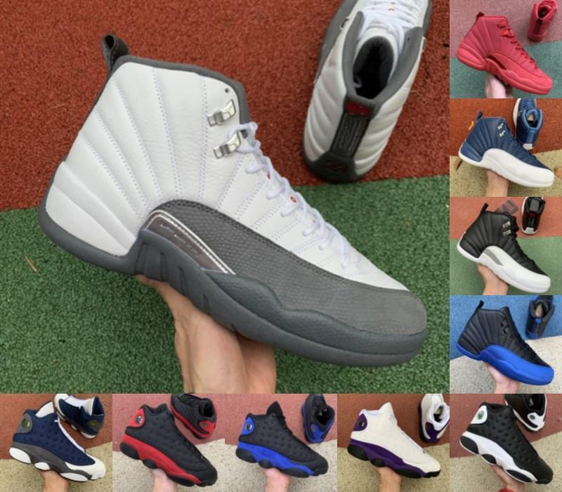 Высокое качество Jumpman Fiba Ovo Hot Punch Game Royal 12 12s Мужская баскетбольная обувь Черный кот 13с Чикаго Taxi DMP Женщины Спортивные кроссовки Размер 12
