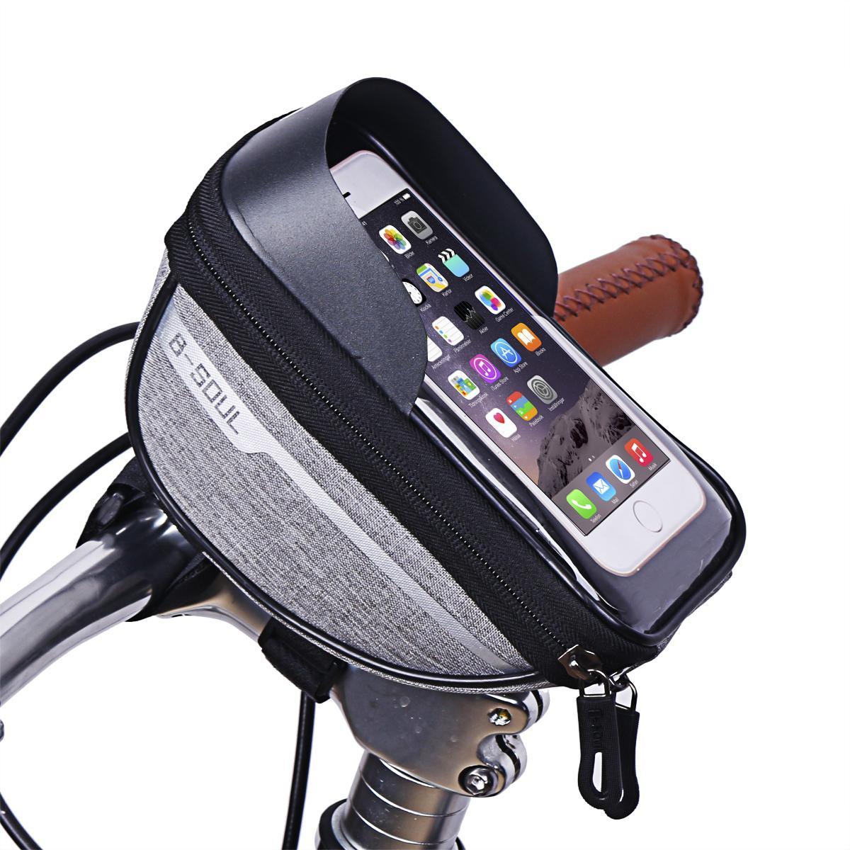 Vendita all'ingrosso-bicicletta bicicletta bici testa tubo manubrio cellulare cellulare sacchetto del cellulare cassa del supporto schermo del supporto del telefono del telefono dei sacchi per 6.5in