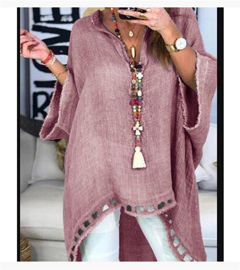 Femmes Designer Plus Taille Tshirt Mode Longue Mode Chaussures Vêtements Pour Femmes Casual V Cou Crasse Out Tops