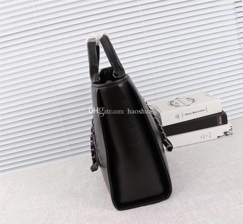 2018 حقيبة تسوق السيدات عالية الجودة، مصمم حقيبة تسوق الكتف، حقيبة تسوق يدوي عارضة الحجم: 43 * 30 * 13cm