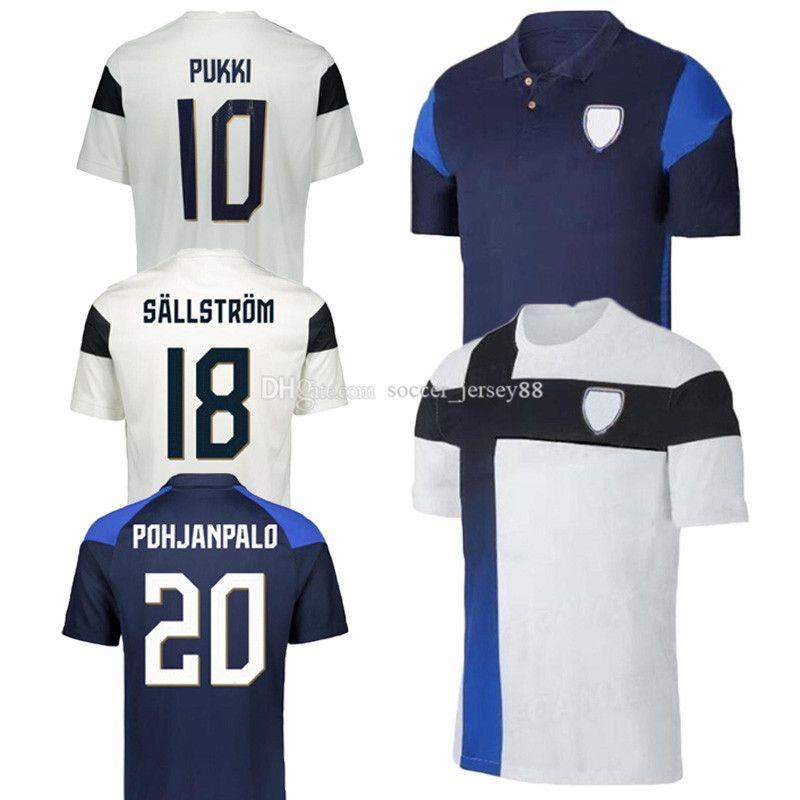 2020 2021 Finlande Team Soccer Jerseys 20 21 Pukki Skrabb Raitala Jensen Lod Kamara Home Kit de football uniforme