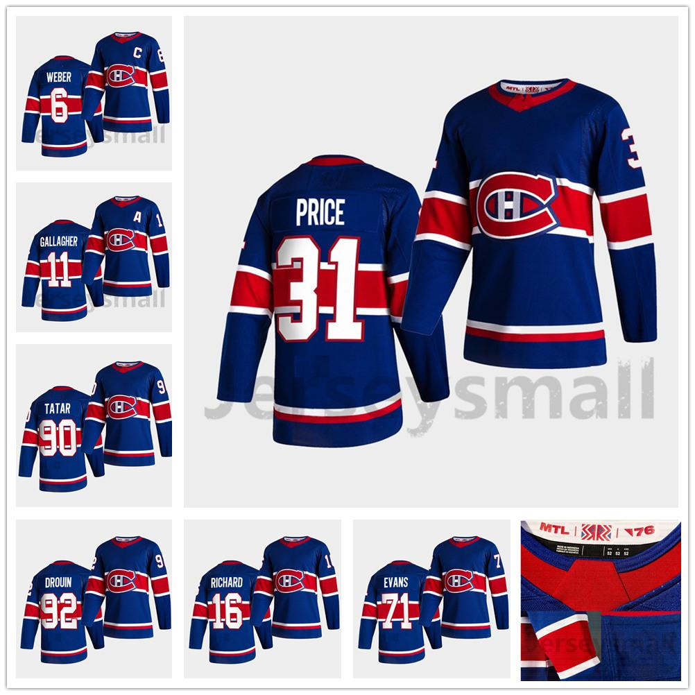 2020 Montreal Canadiens 2021 Reverse Retro Carey Price Jersey Shea Weber Gallagher Anderson Armia Patrick Roy Toffoli Tatar Evans Men Women Youth From Moviejerseymall 23 6 Dhgate Com