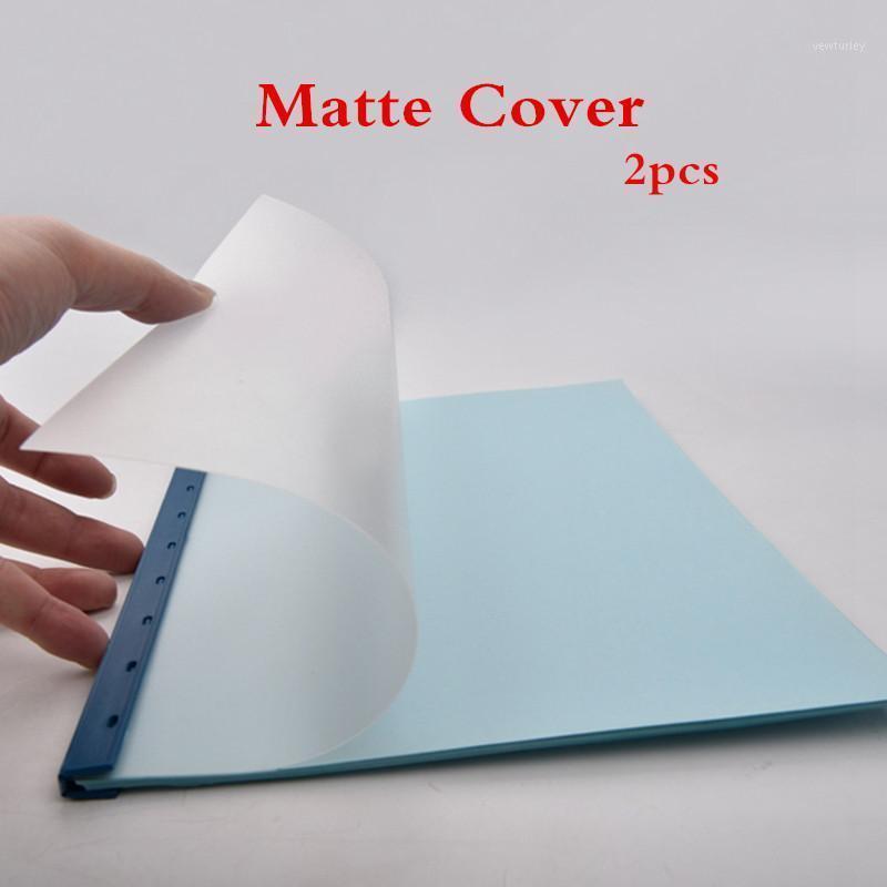 المفكرة 2PCS A4 البلاستيك ماتي ملزمة فيلم شفافة pp يغطي اللوازم المكتبية المنتج كتيب الوثيقة تغطية البيانات 1