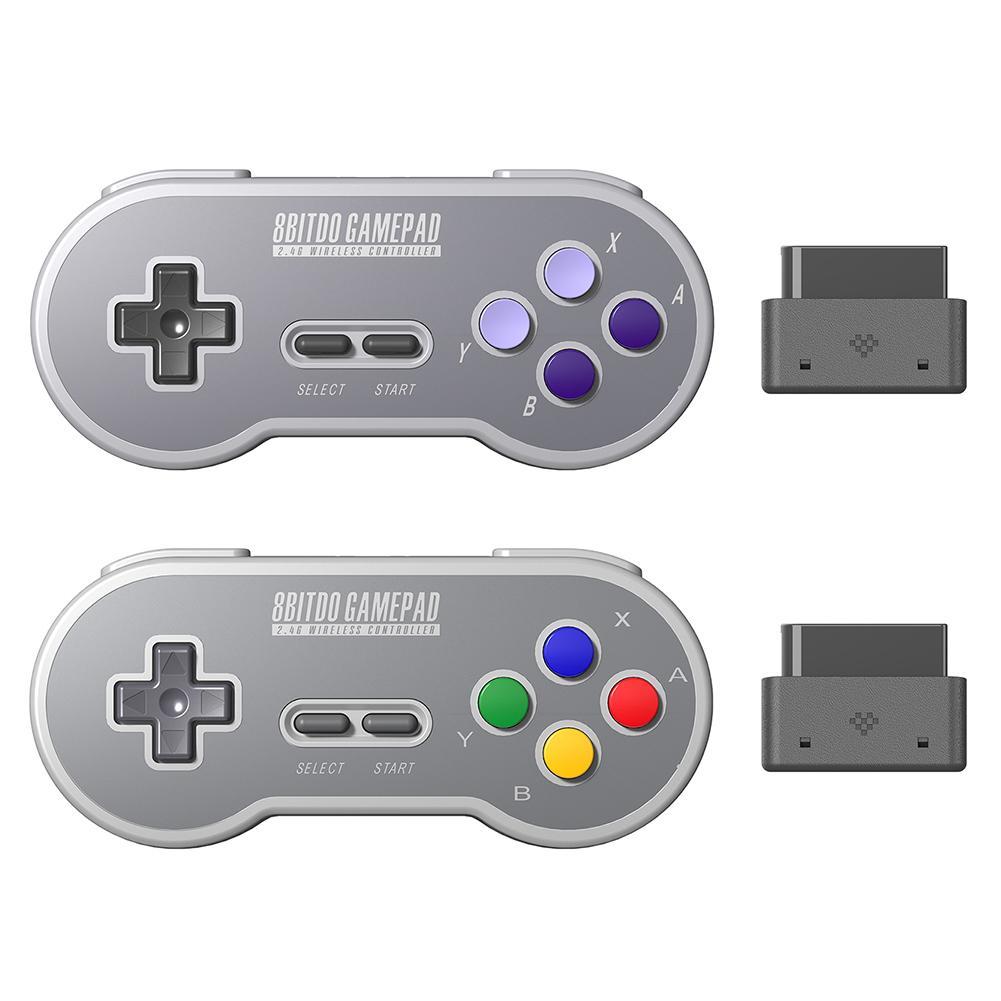 Для Snes / SFC игровой контроллер игрового консоли 8bitdo SN30 Ретро 2.4 ГГц Беспроводное соединение Батарея 18 часов GamePad беспроводной джойстик W1219