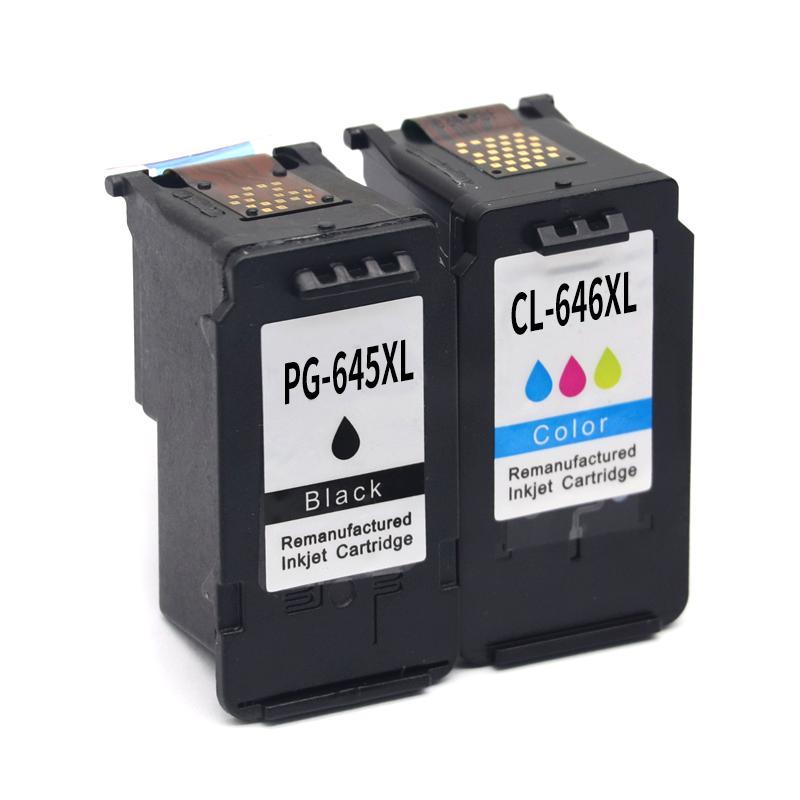 حبر خراطيش 2PCS PG645 PG645XL PG-645 CL646 CL646XL متوافق مع Canon Pixma MG2460 MG2460 MG2960 MG2965 MG 2460 MG2500