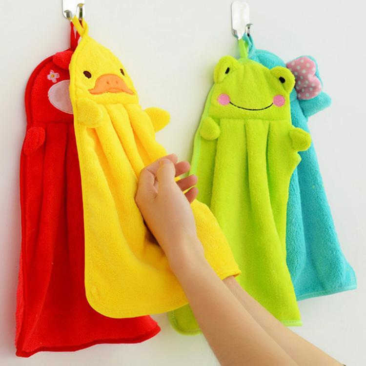Serviette à main suspendue cuisine salle de bain couverte tissu doux épais essuie serviette coton vaisselle nettoyage serviettes accessoires WB3170