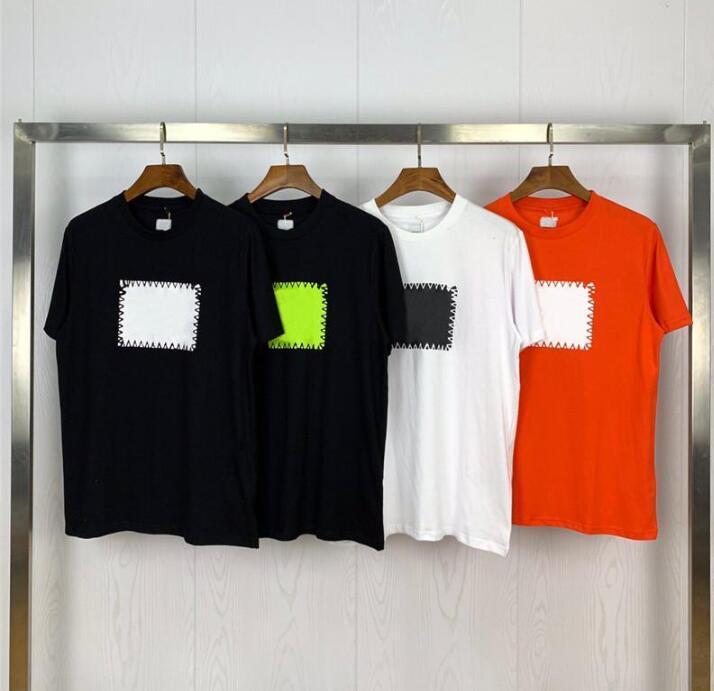 19SS 유명한 남성 T 셔츠 폴로스 고품질 남성 여성 커플 캐주얼 짧은 소매 망 라운드 넥 스타일리스트 티셔츠