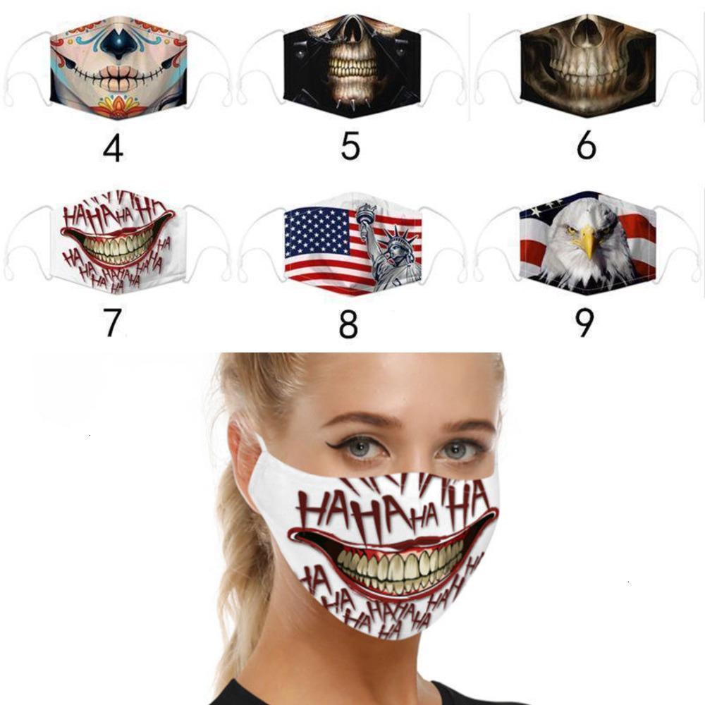 Modelos Skull Ma Americano Camo Liberty Flag Explosión Impresión digital Dust Haze PM2.5 Ajuste Earhook con dos papas fritas