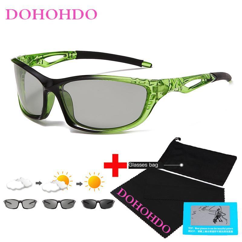 DOHOHDO Yeni Fotokromik Güneş Erkekler Polarize Spor Sürüş Gözlük Erkek Değişim Rengi Güneş Gözlükleri Bukalemun Sürücü Gafas