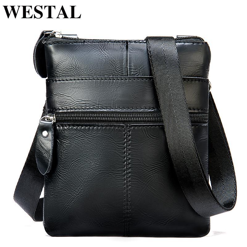 Westal Herren Taschen für kleine Umhängetaschen für Männer 2222 Bag Bag telefon männer Echtes Leder Männer Messenger Mini Crossbody Xmsui