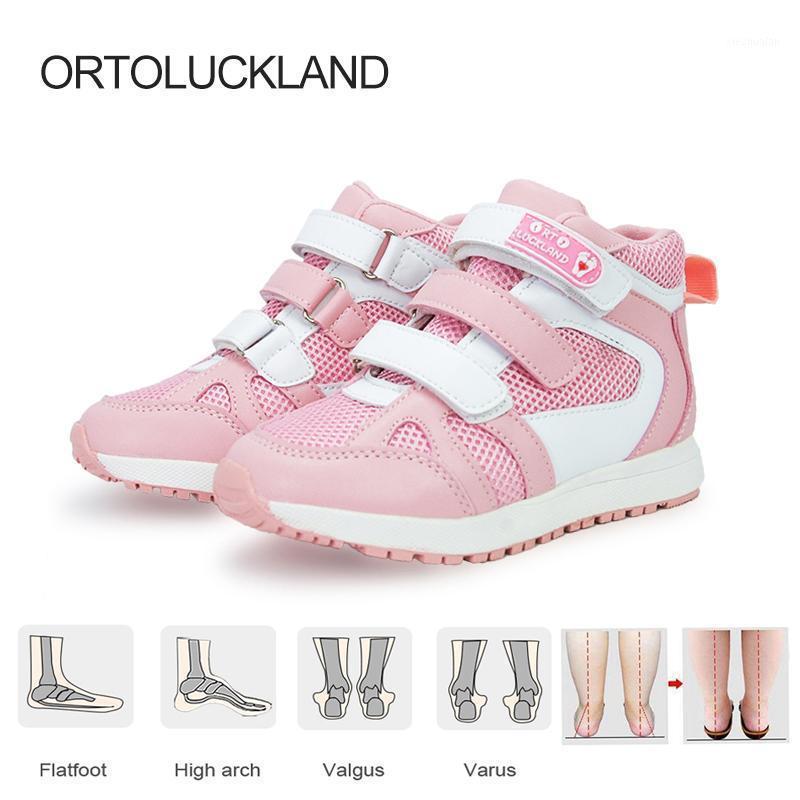 Enfants Sports Baskets de haut en haut pour garçons Filles Enfants Orthopédiques Arch Support Chaussures Forte Toile de toile de fond Chaussures de sport 20211
