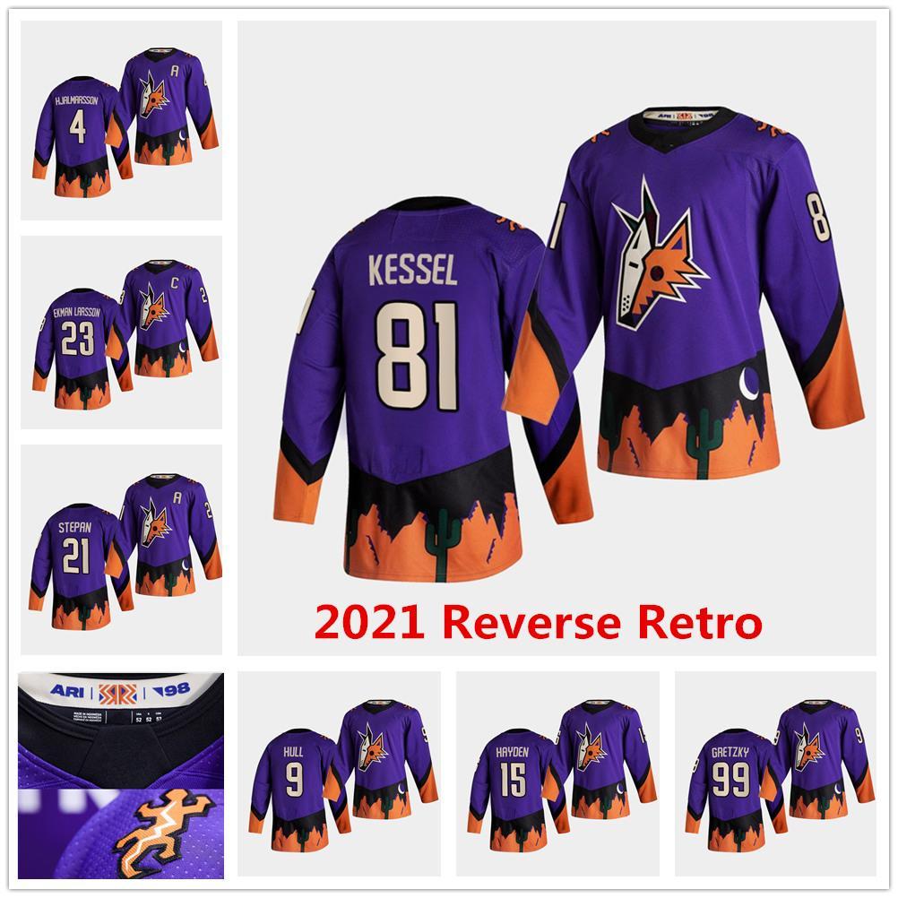 Phil Kessel Arizona Coyotes 2021 Retro Jersey Oliver Ekman-Larsson Hjalmarsson Hull Fischer Burke Kuemper Derek Stepan Wayne Gretzky