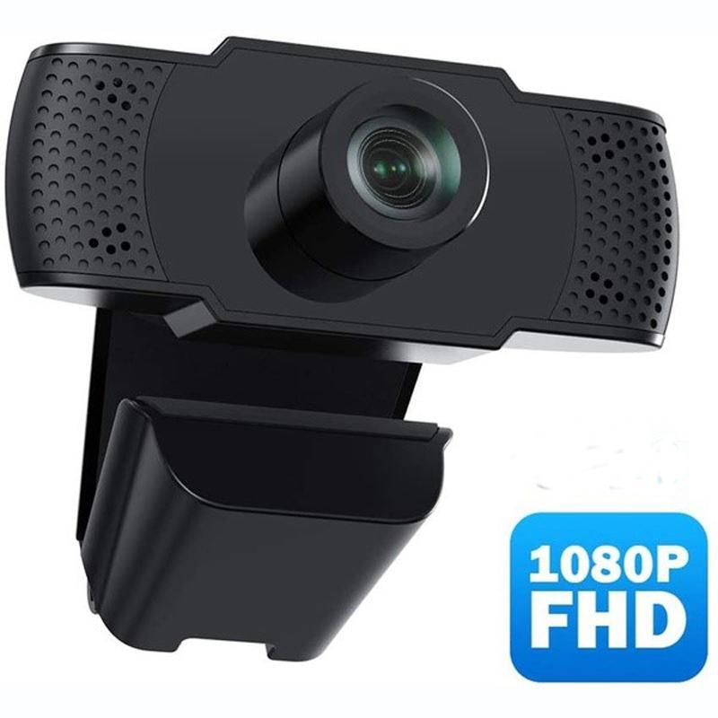 USB 카메라 1080P HD 라이브 컴퓨터 카메라 마이크가있는 무료 드라이브 웹캠에는 스피커 자동 초점 플러그 앤 플레이가 제공됩니다.