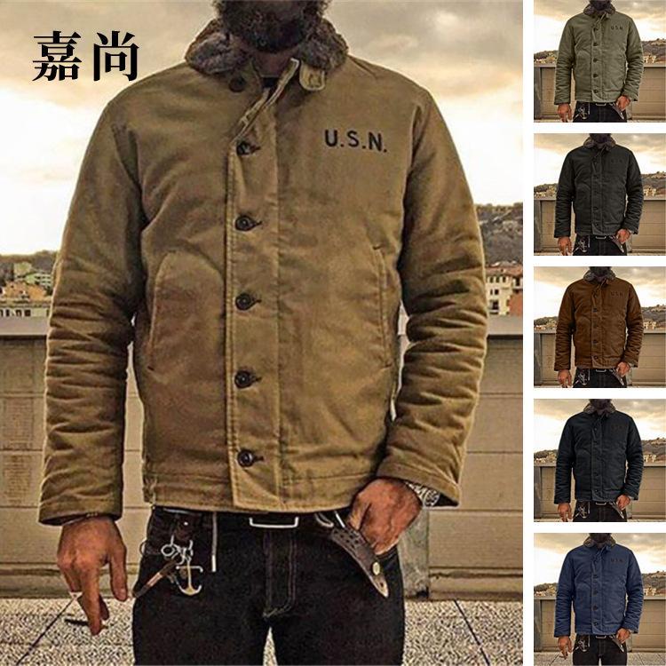 Внешняя торговля трансграничные модели взрыва Европейская Amazon 2020 осенью и зимний мужской тонкий сплошной цветной модный куртка куртка мужской прилив