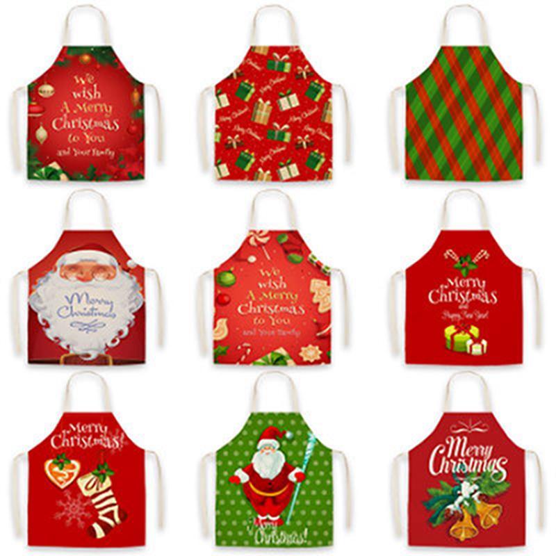 С Рождеством Фартук Мультфильм рождественские фартуки Санта-Клаус Kitchen фартуки фестиваль партии Декор Xmas Подарки IIA895