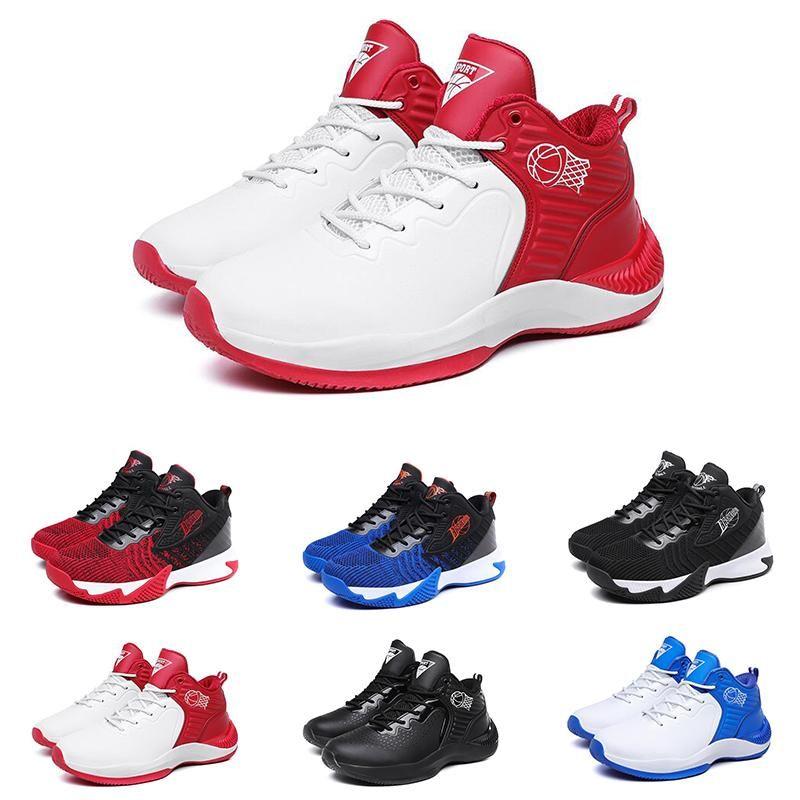 2021 Yeni Popüler Yüksek Kaliteli erkek Basketbol Ayakkabıları Üç Siyah Beyaz Mavi Kırmızı Erkek Spor Ayakkabı 40-44