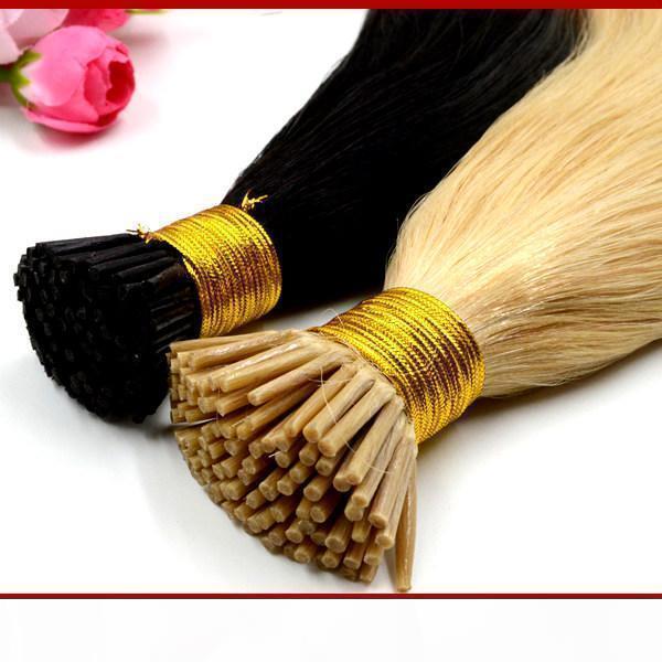 "Xcsunny 18 ""20"" Best Keratin Human Hair Prebonded Human Hair I Titoli Estensioni 1G S 100GRAM PK Keratin Fusion estensioni per capelli"