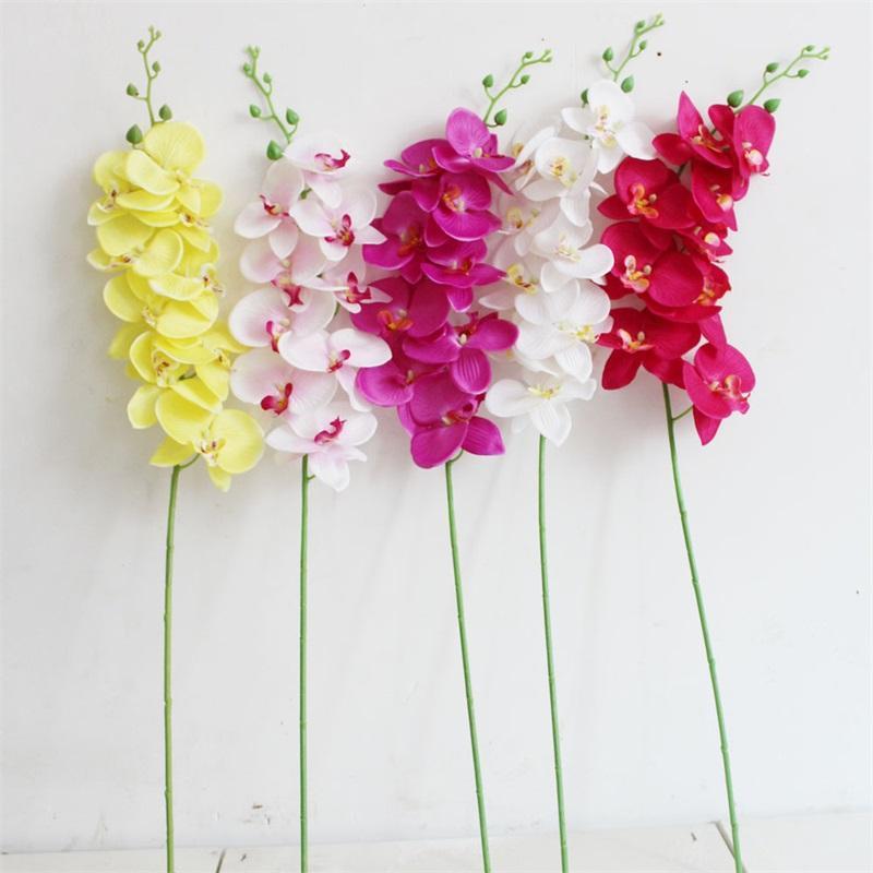 단일 나비 난초 인공 꽃 플라스틱 폴리 에스터 패션 섬유 93cm 실크 꽃 웨딩 크리스마스 장식 꽃 4 9SM G2