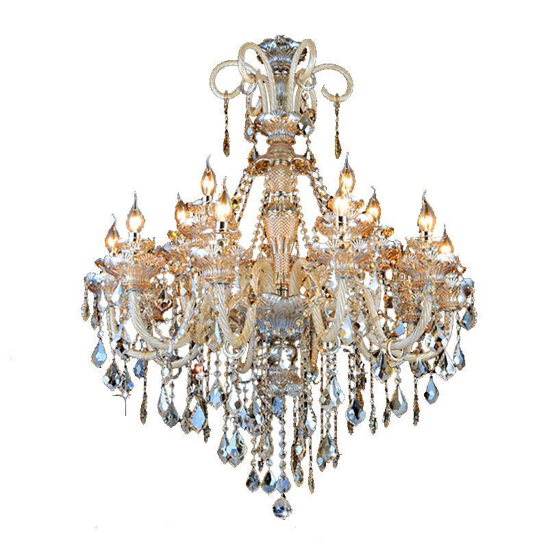 Modern Kristal Avize Oturma Odası Cilalar De Cristal Dekorasyon Tiffany Kolye ve Avizeler Ev Aydınlatma Kapalı Lamba ZG8055