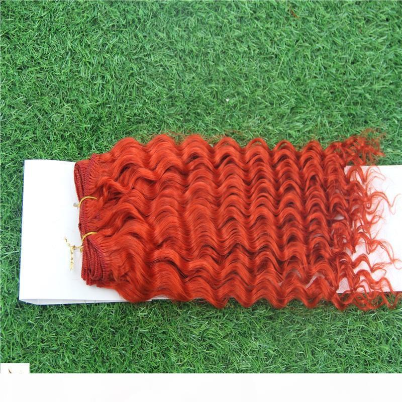 """Красивые красные девственницы Малайзийское человеческое плетение волос 10-30 """"Малайзийское глубокое волновое плетение 6a необработанные волосы"""