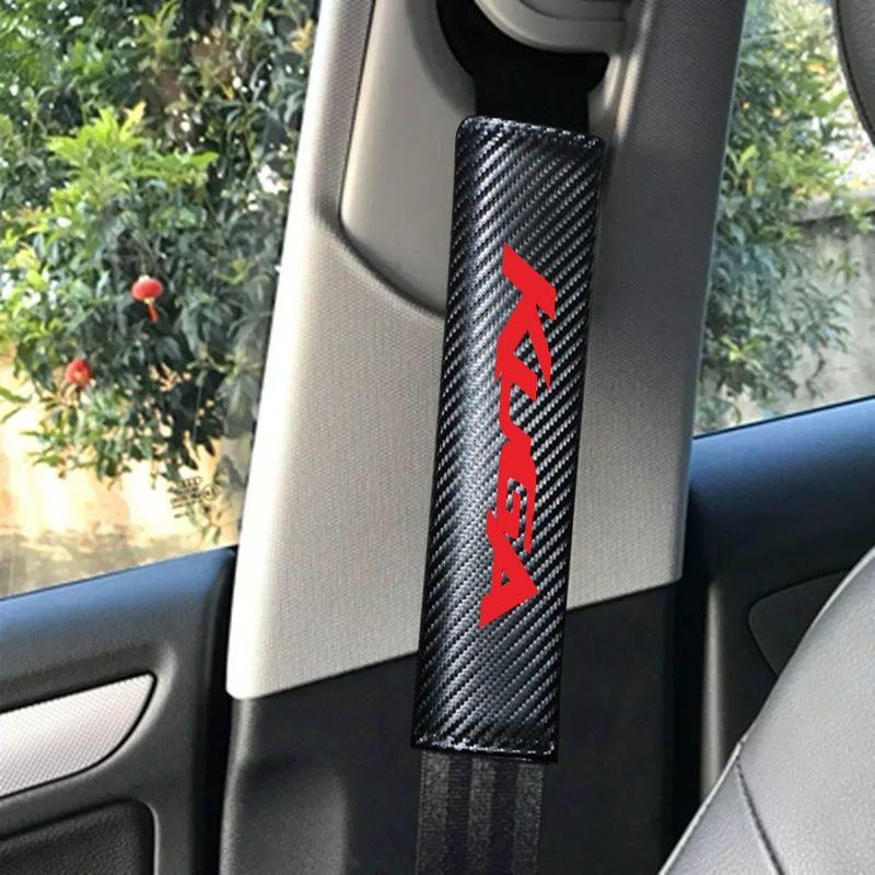 Ford Carbon Wiber Carber Texty Texty Coovers для 1Pair Kuga 2017 2018 Безопасность Безопасная ремень безопасности 2019 Обложка автомобиля Покрытие EWPWW