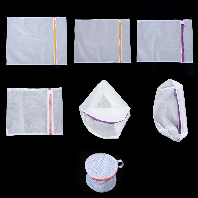 7pcs Sıkıştırılmış Yıkama Çanta Seti Çamaşır Makinesi Aksesuarları Depolama Ayırma İç Bra Giyim Çorap Çamaşır Torbalar T200224